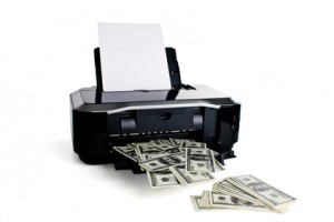 Printer printing money