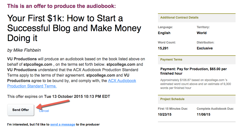 Make an audiobook