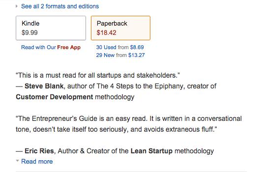 Amazon book description